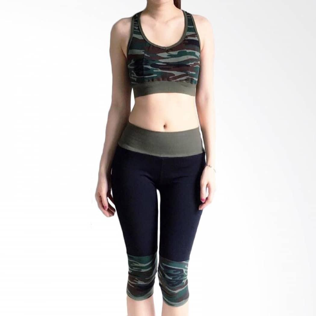 4.baju Senam Dengan Sport Bra